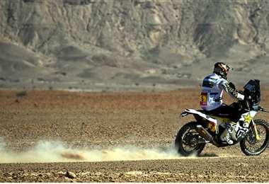Pablo Quintanilla en plena competencia. Foto: Rally Dakar