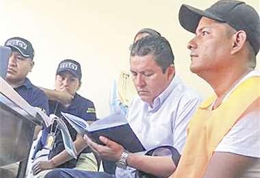 El autor durante una de sus audiencias en el penal de Palmasola