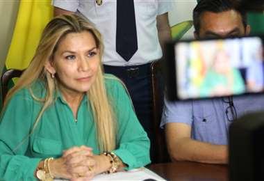La presidenta Áñez se dirigirá al país el 22 de enero. Foto: ABI