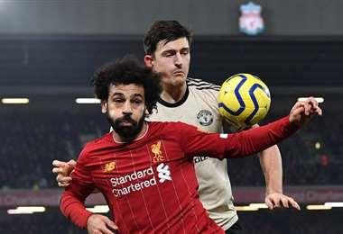 Mohamed Salah marcó el segundo del partido. El egipcio fue la figura del partido. Foto. AFP