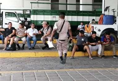 Los uniformados permanecen en instalaciones de la Secretaria de Seguridad Ciudadana desde el 31 de diciembre. Foto: Leyla Mendieta