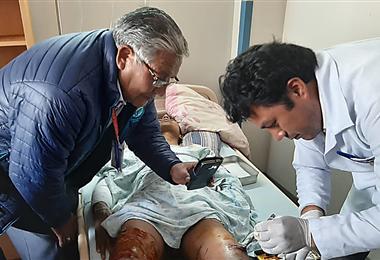 El atleta recibe atención en el hospital Oruro - Corea