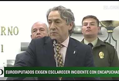 Los eurodiputados brindaron una conferencia de prensa