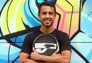 Hugo Dellien, el número 1 del tenis en Bolivia. Foto: Hugo Dellien