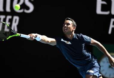 Hugo Dellien fue destacado por los comentaristas por su lucha. Foto: AFP