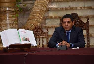 La autoridad en conferencia de prensa I Foto: Justicia.