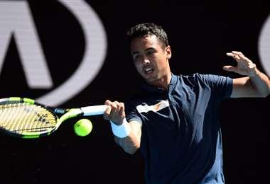 En su último partido el beniano enfrentó a Rafael Nadal. El choque se dio en el Abierto de Australia. Foto. AFP