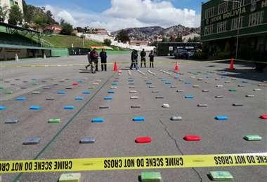La droga fue mostrada en la Anapol I Foto: ABI.