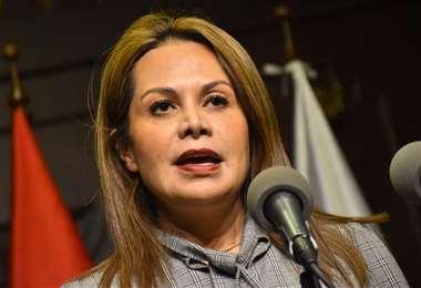 La comunicadora deja el Gabinete I Foto: APG Noticias.
