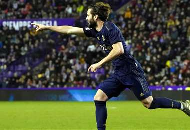 Nacho Fernández celebrando el gol. Foto: AFP