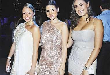 Ellas. Milagros Núñez, Dayana Roca y Naomi Allseits