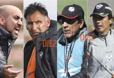 Nuñez, Ferrufino, Illanes y Peña, son apalabrados en San José. Foto: Archivo
