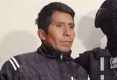 El feminicida fue detenido por la Policía en la frontera con Perú. Foto: ABI