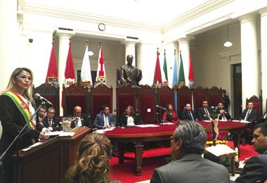 La presidente participó de la inauguración del año judicial