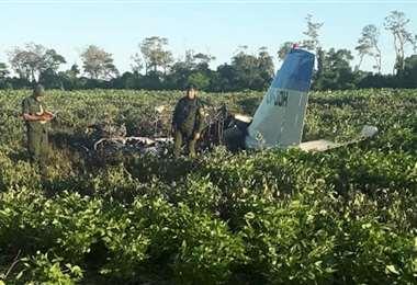 Esta es la aeronave que se estrelló en Cuatro Cañadas. (Foto, archivo)