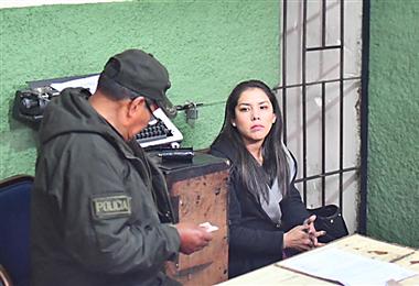 La apoderada de Evo Morales fue detenida. Foto: APG