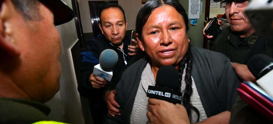 Achacollo se declaró una perseguida política. Foto APG