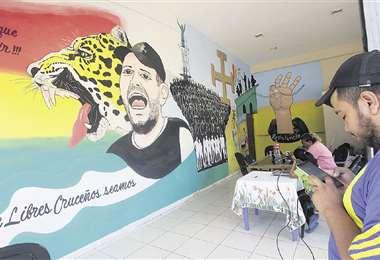 La casa de campaña de Camacho, en la Villa, es impulsada por la organización Resistencia Cívica. Foto: JORGE UECHI