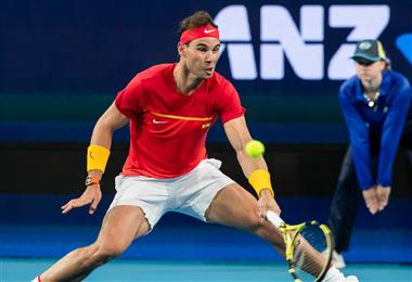 Rafael Nadal le dio el triunfo a España en la ATP Cup. Foto: AFP