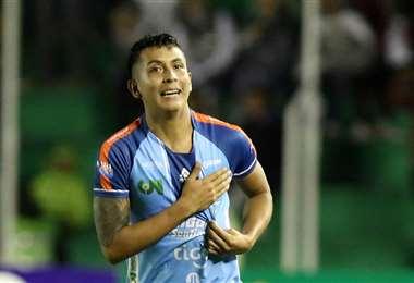 Roberto Fernández fue transferido al fútbol español tras destacar en Blooming. Archivo DIEZ