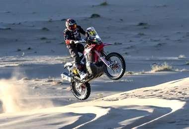 Daniel Nosiglia sufre accidente y abandona el Dakar 2020 en la segunda etapa. Foto. Prensa Nosiglia