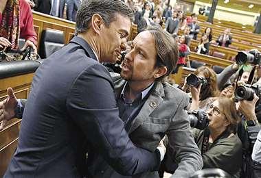 La coalición PSOE-Podemos cuenta con un estrecho margen en el Parlamento español. Foto: AFP