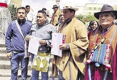Autoridades del Conamaq y de la Cidob llaman a mantener la paz social, ante amenaza de movilizaciones. Foto: ABI