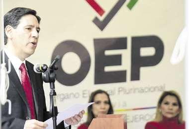 Salvador Romero, en el acto de inauguración del año electoral. foto: ABI