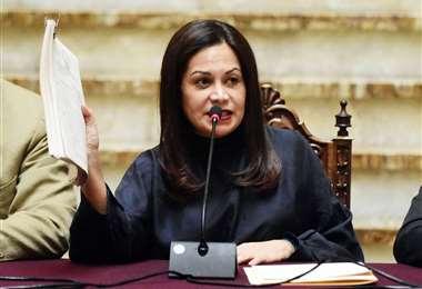 Roxana Lizárraga, exministra de Comunicación de Jeanine Áñez