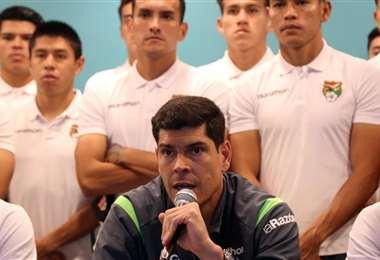 Los jugadores de la Verde brindaron una conferencia de prensa. Foto: Prensa FBF