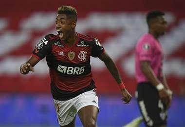 Bruno Hernique aportó con un gol en el triunfo de Flamengo. Foto: AFP