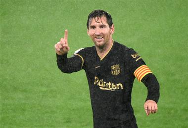 Messi poco a poco vuelve a su nivel. Foto: AFP