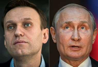 Navalni y Putin. Foto AFP