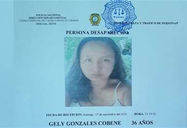 Se llama Gely Gonzales Cobene (Imagen: División Trata y tráfico de personas)