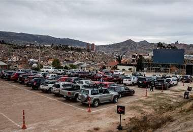 El nuevo autocine en La Paz