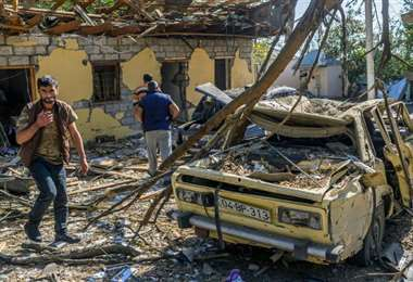 En estas condiciones quedaron varias viviendas tras varios días de bombardeos