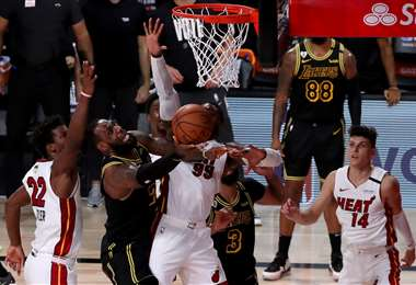 El quinto partido de la final de la NBA fue para los Heat de Miami. Foto: AFP