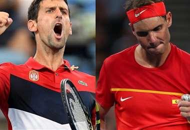 Djokovic y Nadal se medirán este domingo. Foto: internet