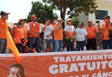 Un acto de campaña de CC en Santa Cruz.