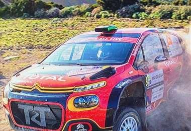 Marco Bulacia en el Citroen que corre los rally en Europa. Foto: Mauro Piga y R. Serra