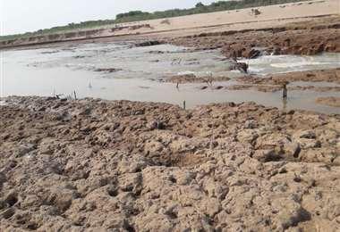 El río Pilcomayo refleja las consecuencias de la deforestación