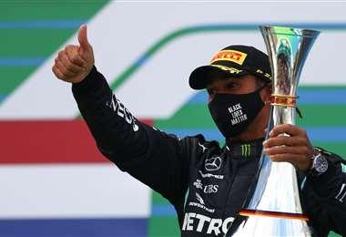 Lewis Hamilton suma ya 91 victorias en la Fórmula Uno. Foto: AFP