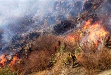 Los incendios descontrolados obligaron a Chuquisaca a declararse en desastre
