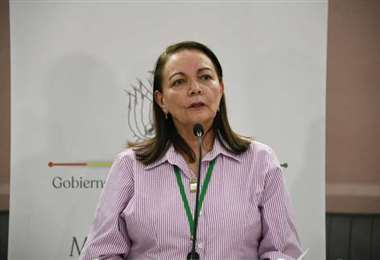 Ministra de Salud, Eidy Roca