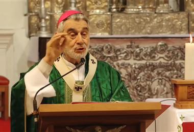 Monseñor Gualberti pide un clima de paz para las elecciones