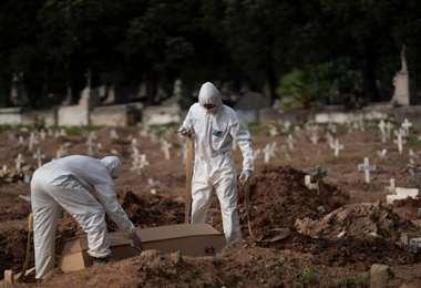 El sábado se registraron en el mundo 4.871 nuevas muertes