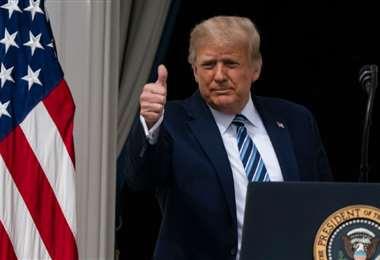 Ayer, desde la Casa Blanca, Trump se dirigió a cientos de seguidores