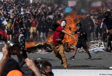 Protestas en Chile/AFP
