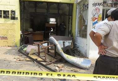 Destrozos en oficinas de la Alcaldía de Camiri/Foto: Teófilo Baldiviezo