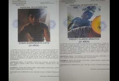 Fueron reportados como desaparecidos el 9 de octubre